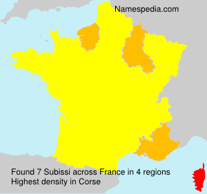 Surname Subissi in France