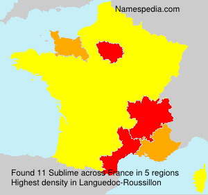 Surname Sublime in France