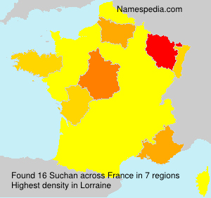 Surname Suchan in France
