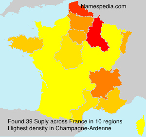 Surname Suply in France