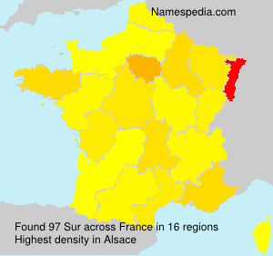 Surname Sur in France