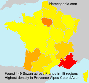 Surname Suzan in France