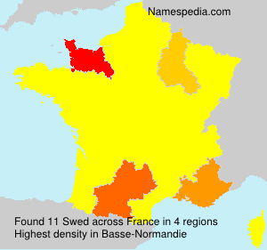 Surname Swed in France