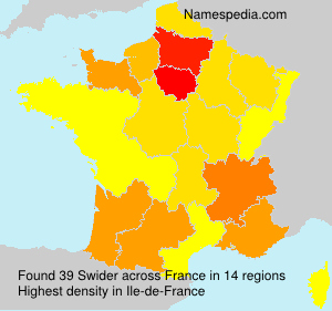 Surname Swider in France
