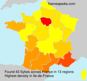 Surname Sykes in France