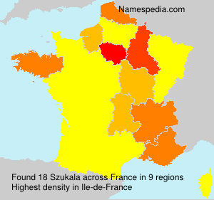 Surname Szukala in France