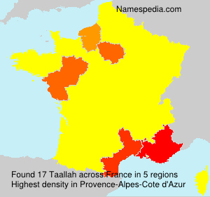 Surname Taallah in France