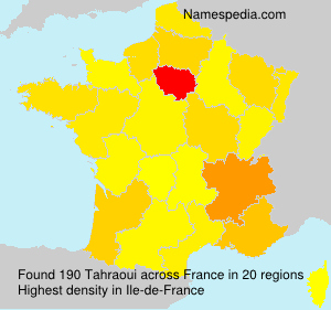 Surname Tahraoui in France