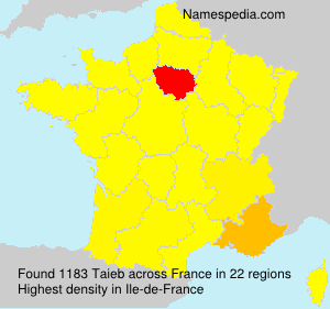 Surname Taieb in France