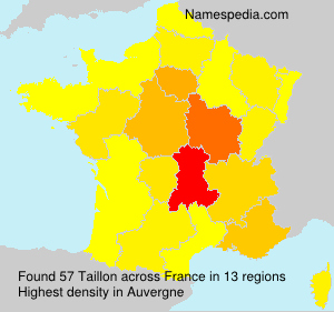 Surname Taillon in France