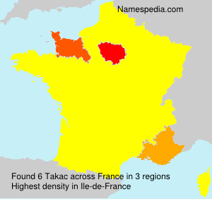 Surname Takac in France