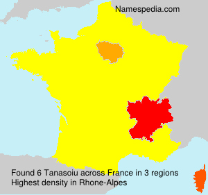 Surname Tanasoiu in France