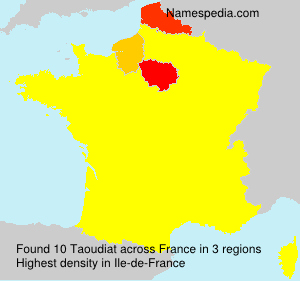 Surname Taoudiat in France