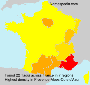 Surname Taqui in France
