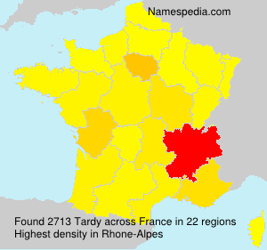 Surname Tardy in France