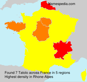 Surname Tatolo in France
