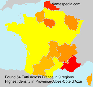 Surname Tatti in France