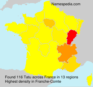 Surname Tatu in France
