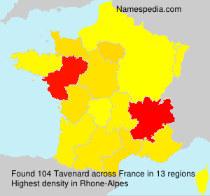 Surname Tavenard in France