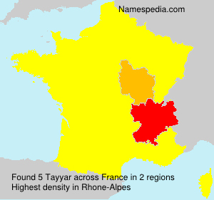 Surname Tayyar in France