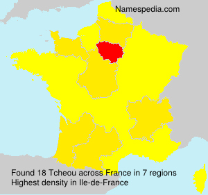 Surname Tcheou in France