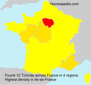 Surname Tchinda in France