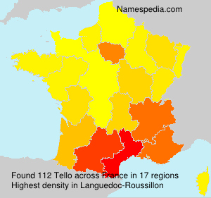 Surname Tello in France