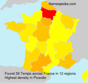 Surname Temps in France