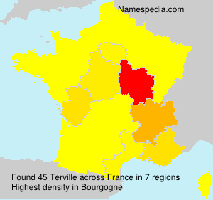 Surname Terville in France