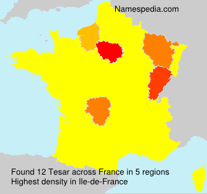 Surname Tesar in France
