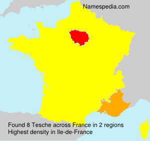 Surname Tesche in France