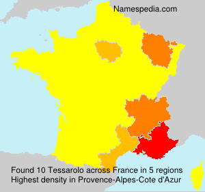 Surname Tessarolo in France