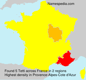 Surname Tetti in France