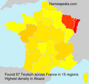 Surname Teutsch in France