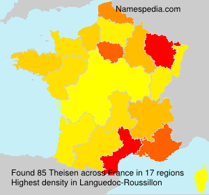 Surname Theisen in France