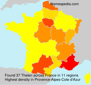 Surname Thelen in France