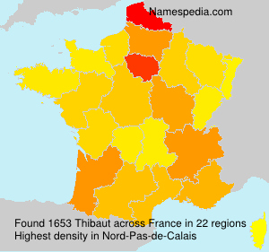 Surname Thibaut in France