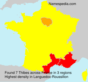 Surname Thibes in France