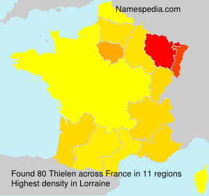Surname Thielen in France