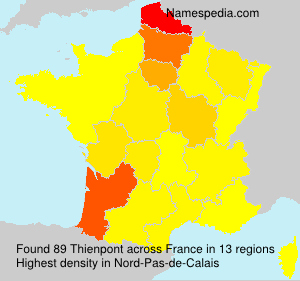 Surname Thienpont in France