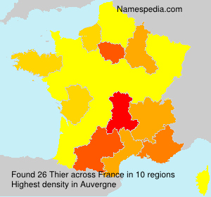 Surname Thier in France