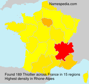 Surname Thiollier in France