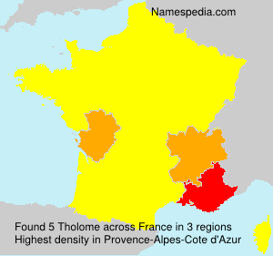 Surname Tholome in France