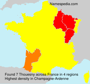 Surname Thouesny in France