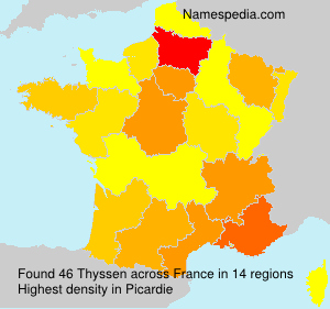 Surname Thyssen in France