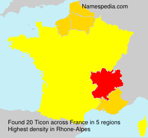 Surname Ticon in France