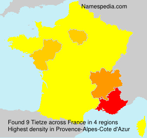 Surname Tietze in France