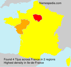 Surname Tijus in France