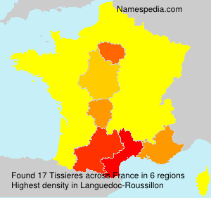 Surname Tissieres in France