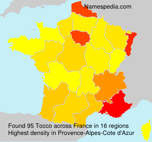 Surname Tocco in France